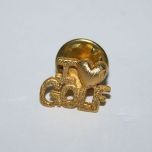 Beautiful vintage gold I love Gold pin